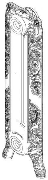 Radiatorius ketinis sekcijinis WINDSOR 350/180 su koja (grunto spalva RAL7035) Paveikslėlis 1 iš 2 310820236000