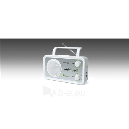 Radijas Muse M-06SW White, AUX in, FM radio Paveikslėlis 2 iš 3 310820223920