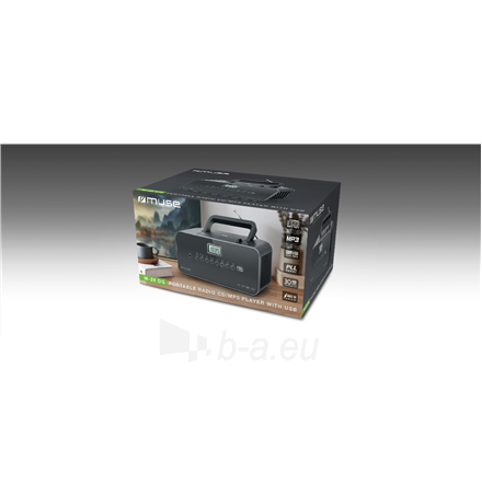 Radio Muse Portable radio M-28DG USB port, AUX in, Paveikslėlis 3 iš 3 310820223919