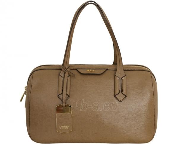 Ralph Lauren Elegantní kožená kabelka Pendridge Satchel hnědá Paveikslėlis 3 iš 3 30063202137