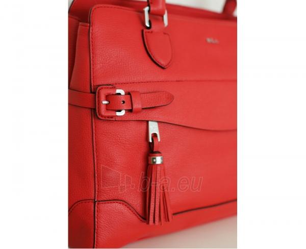 Ralph Lauren elegantiška odinė rankinė Peterson Shopper Punch red Paveikslėlis 1 iš 4 30063202135