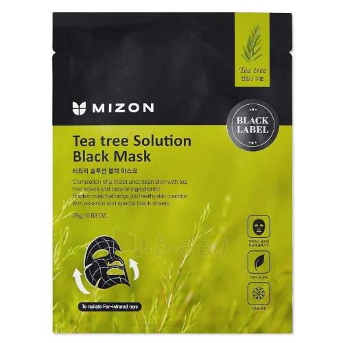 Raminanti veido kaukė su arbatmedžiu Mizon Black Mask 25 g Paveikslėlis 1 iš 1 310820223639