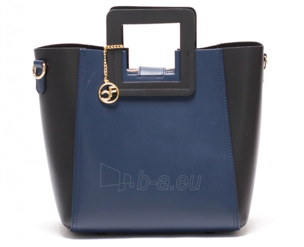 Handbag Carla Ferreri odinė 3002 Nero Blu Paveikslėlis 1 iš 5 30063202460