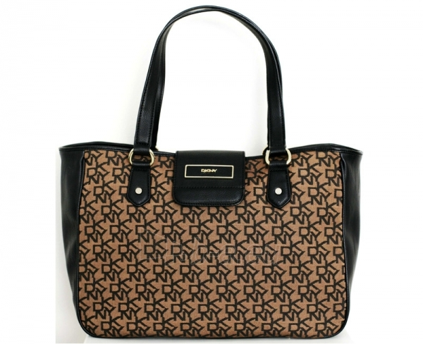 Handbag DKNY Vintage Logo Pug Buckel - Ruda/Black 743410409 Paveikslėlis 1 iš 1 30063201909