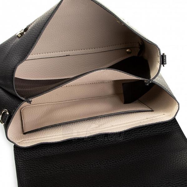 Handbag Guess Aretha Top Handle Flap Black Bla