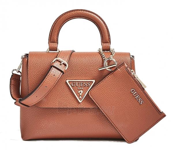 Handbag Guess Aretha Top Handle Flap Cognac Cog