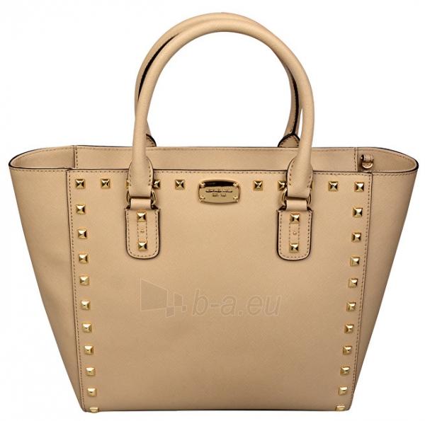 fc9d950d1de0 Handbag Michael Kors Luxurious leather Sandrine Stud Saffiano Leather  Studded Large Tote Bag - Beige Paveikslėlis