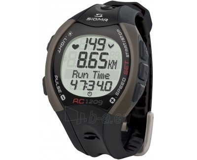 Manuāla pulksteni Sigma Sporttester RC 1209 Black Paveikslėlis 1 iš 1 30100800583