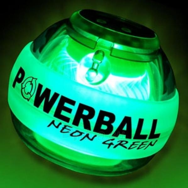 Rankos treniruoklis NSD POWERBALL Green LED Pro 250 Hz Paveikslėlis 1 iš 2 310820086448