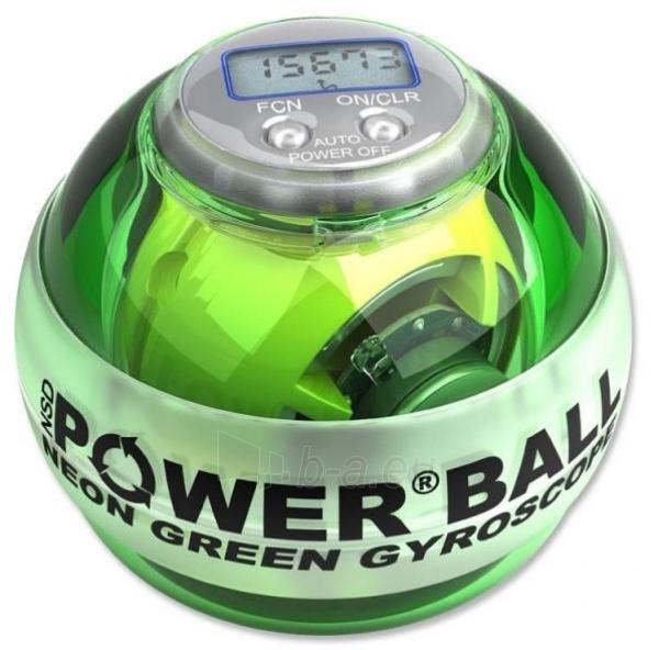 Rankos treniruoklis NSD POWERBALL Green LED Pro 250 Hz Paveikslėlis 2 iš 2 310820086448