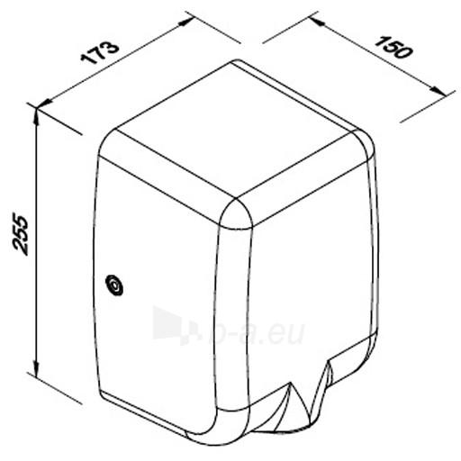 Rankų džiovintuvas Faneco PASSAT V 1350 W, satinas Paveikslėlis 3 iš 4 310820253521