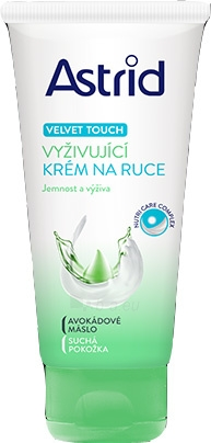 Rankų kremas Astrid Nourishing Hand Cream for Dry Skin Velvet Touch 100 ml Paveikslėlis 1 iš 1 310820089284