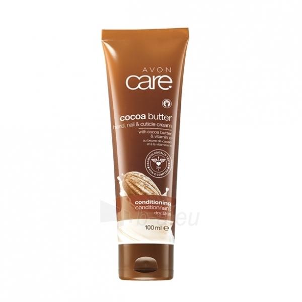 Hand cream Avon Nourishing hand cream and nail with cocoa butter and vitamin E Care (Hand Nail Cuticle Cream) 100 ml Paveikslėlis 1 iš 1 310820125616