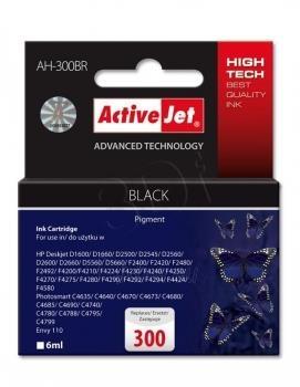 Rašalas ActiveJet AH-300BR | black | 6 ml | HP HP 300 CC640EE Paveikslėlis 1 iš 1 310820044898