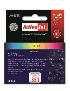 Rašalas ActiveJet AH-351R | Kolor | 9 ml | HP HP 351 CB337EE Paveikslėlis 1 iš 1 310820044897