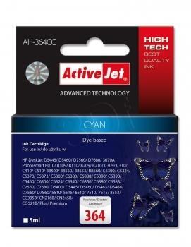 Rašalas ActiveJet AH-364CC | Cyan | 5 ml | HP HP 364 CB318EE Paveikslėlis 1 iš 1 310820044901