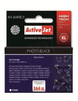 Rašalas ActiveJet AH-364PBCX | Foto black | 12 ml | HP HP 364XL CB322EE Paveikslėlis 1 iš 1 310820044878