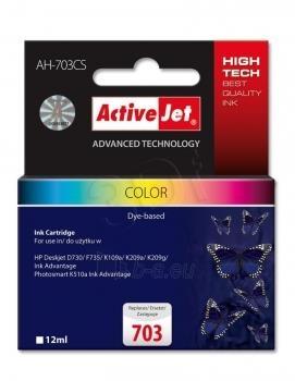 Rašalas ActiveJet AH-703CS | Kolor | 12 ml | HP HP 703 CD888AE Paveikslėlis 1 iš 1 310820044895