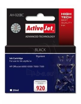 Rašalas ActiveJet AH-704BR | black | 20 ml | HP HP 704 CN692AE Paveikslėlis 1 iš 1 310820044875