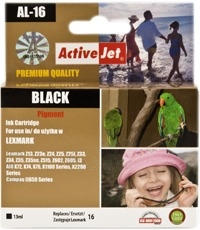 Rašalas ActiveJet AL-16 | Black | 13 ml | Refill | Lexmark 10N0016 Paveikslėlis 1 iš 1 310820044838