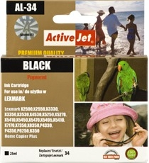 Rašalas ActiveJet AL-34 | Black | 25 ml | Refill | Lexmark 18C0034E Paveikslėlis 1 iš 1 310820044828