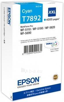 Rašalas Epson cyan T7892 | 34 ml | WF-5110DW/WF-5190DW/WF-5620DWF/WF-5690DWF Paveikslėlis 1 iš 1 2502534500338