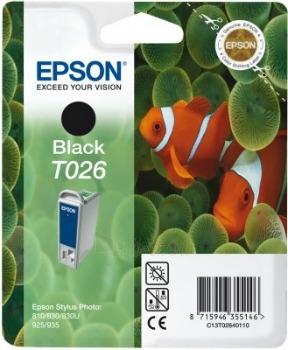 Rašalas Epson T026 black | Stylus Photo 810/830/830U/925/935 Paveikslėlis 1 iš 1 2502534500359