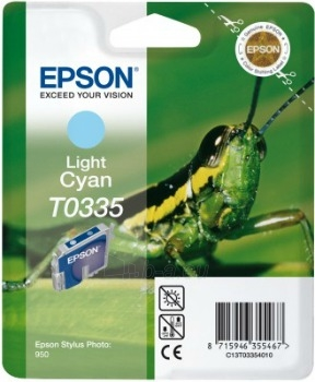 Rašalas Epson T0335 light cyan | Stylus Photo 950 Paveikslėlis 1 iš 1 2502534500366