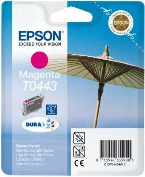 Rašalas Epson T0443 magenta   Stylus C64/66/66 Photo Edition/84/84N/84WiFi/86,CX Paveikslėlis 1 iš 1 2502534500384
