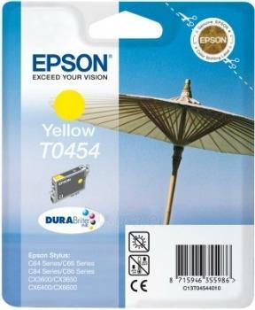 Rašalas Epson T0454 yellow   Stylus C64/66/66 Photo Edition/84/84N/84WiFi/86,CX3 Paveikslėlis 1 iš 1 2502534500387