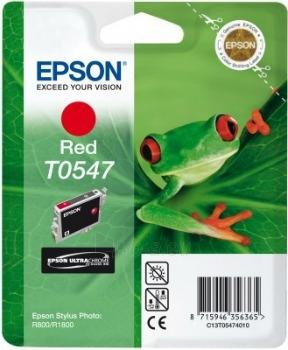 Rašalas Epson T0547 red   Stylus Photo R800/1800 Paveikslėlis 1 iš 1 2502534500404