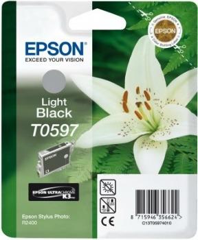 Rašalas Epson T0597 light black | Stylus Photo R2400 Paveikslėlis 1 iš 1 2502534500412