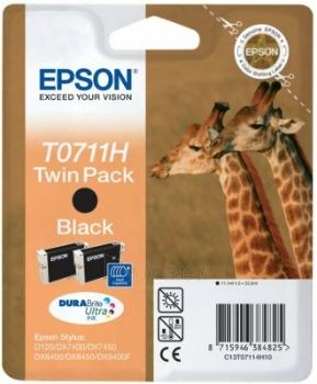 Rašalas Epson T0711 black Doublepack DURABrite | Stylus D120/120 Network Edition Paveikslėlis 1 iš 1 2502560202323