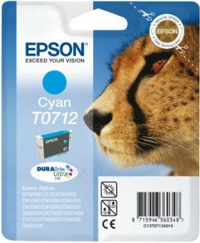 Rašalas Epson T0712 cyan DURABrite | Stylus D78/92/120/DX4000/4050/4400/4450/500 Paveikslėlis 1 iš 1 2502560202324