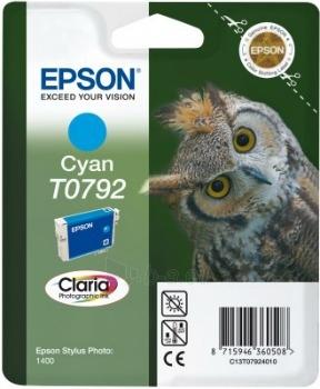Rašalas Epson T0792 cyan | Stylus Photo 1400 Paveikslėlis 1 iš 1 2502534500422
