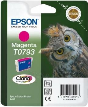 Rašalas Epson T0793 magenta | Stylus Photo 1400 Paveikslėlis 1 iš 1 2502534500423