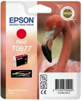 Rašalas Epson T0877 red Retail Pack BLISTER | Stylus Photo R1900 Paveikslėlis 1 iš 1 2502534500436