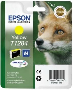 Rašalas Epson T1284 yellow | Stylus S22/SX125/SX425W/BX305F Paveikslėlis 1 iš 1 2502534500455