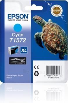 Rašalas Epson T1572 Cyan| 25,9 ml | R3000 Paveikslėlis 1 iš 1 2502534500459