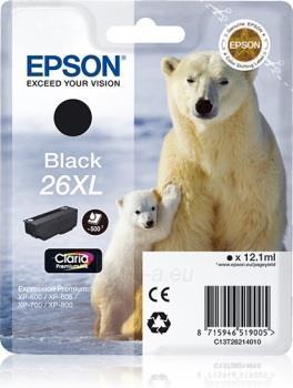 Rašalas Epson T2621 XL black Claria | 12,2 ml | XP-600/700/800 Paveikslėlis 1 iš 1 310820044469
