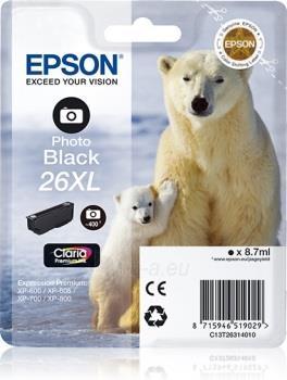 Rašalas Epson T2631 XL photo black Claria | 8,7 ml | XP-600/700/800 Paveikslėlis 1 iš 1 2502534500485