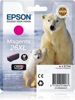 Rašalas Epson T2633 XL magenta Claria | 9,7 ml |  XP-600/700/800 Paveikslėlis 1 iš 1 2502560202347