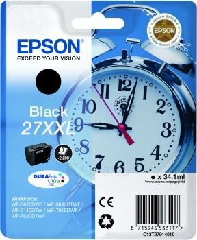 Rašalas Epson T2791 Black XXL DURABrite Paveikslėlis 1 iš 1 310820044480