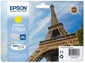 Rašalas Epson T702 yellow XL | 2000str | WP4000/4500 Paveikslėlis 1 iš 1 2502534500509