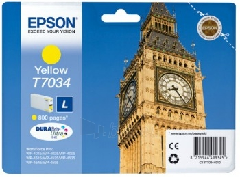 Rašalas Epson T703 yellow L   800psl   WP4000/4500 Paveikslėlis 1 iš 1 2502560202351