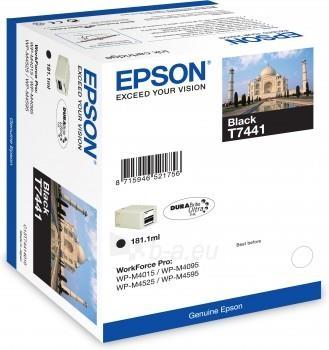 Rašalas Epson T7441 black DURABrite™ Ultra | 181ml | WP-M4015 DN/WP-M4525 DNF Paveikslėlis 1 iš 1 310820044462