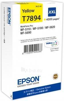 Rašalas Epson yellow T7894 | 34 ml | WF-5110DW/WF-5190DW/WF-5620DWF/WF-5690DWF Paveikslėlis 1 iš 1 2502534500513