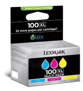 Rašalas Lexmark No 100XL 3pack CMY Paveikslėlis 1 iš 1 2502534500524