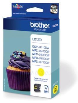 Rašalo kasetė Brother LC123Y yellow| 600 pgs | MFC-J4510DW Paveikslėlis 1 iš 1 2502534500581