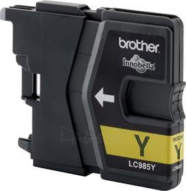 Rašalo kasetė Brother LC985Y yellow  260psl  DCPJ125/J315w/J515w/J220/J265w/J410 Paveikslėlis 1 iš 1 2502534500611